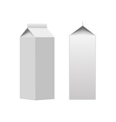 milk or juice carton packaging package box vector image