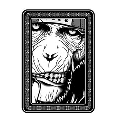 monkeyape black and white hand drawing vector image