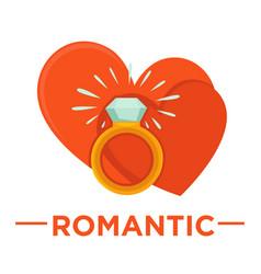 Movie genre romatic cinema icon of heart vector