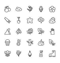 nature and ecology line icons 2 vector image