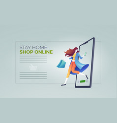 online shopping cocept vector image