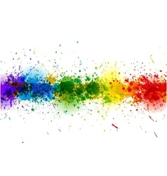 Paint splashes background banner made of vector