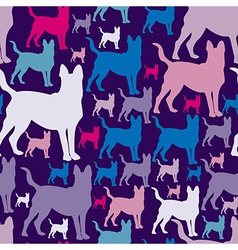 Pattern with dogs seamless texture vector
