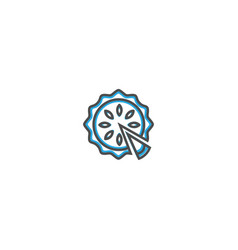 Pie icon design gastronomy icon vector