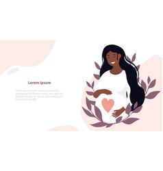 pregnancy and motherhood concept vector image