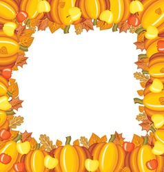 pumpkin apple frame vector image