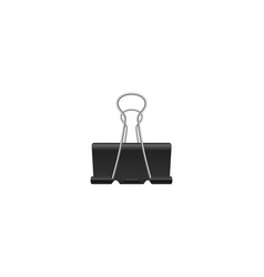 realistic binder clip isolated vector image