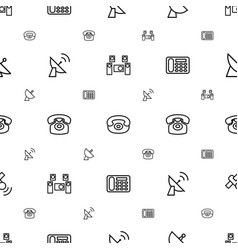 Receiver icons pattern seamless white background vector