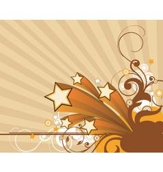 Retro floral graphic vector