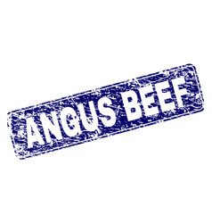 Scratched angus beef framed rounded rectangle vector