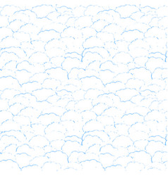 seamless background with fuzzy clouds vector image
