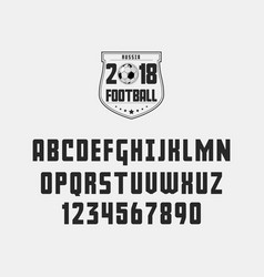 set of football soccer - badge logo and font vector image