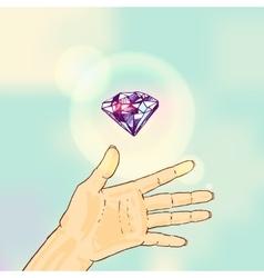 sketch of crystal vector image