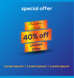 Special discount offer vector