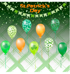 st patricks set of elements for design vector image