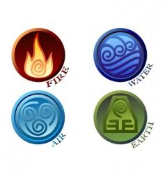 Symbols four elements of nature vector