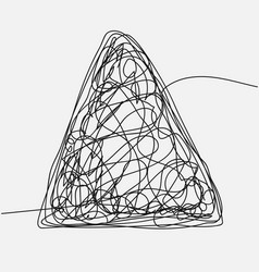 tangle scrawl sketch drawing triangle vector image