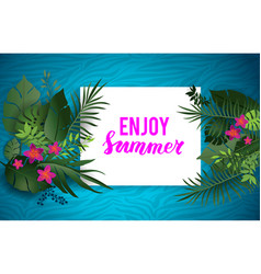tropical summer nature poster vector image