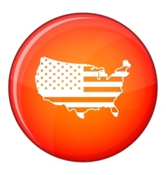 USA map icon flat style vector
