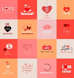 Valentine cards 2 vector
