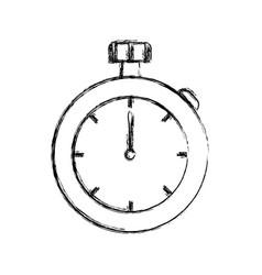 vintage hand clock vector image