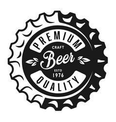 Vintage monochrome lager beer label vector