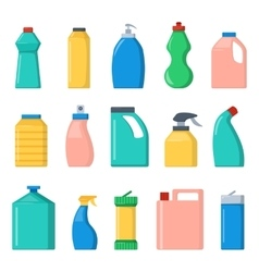 Blank package container dummy collection bottle vector image