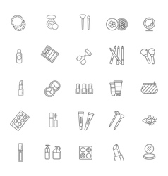 Cosmetics line icons vector image vector image