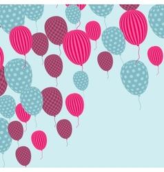 Retro Balloon Pattern vector image