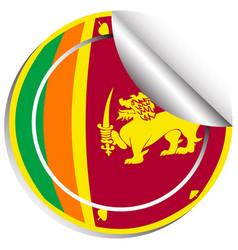sticker design for flag of srilanka vector image vector image