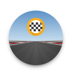 track road to infinity road highway vector image vector image