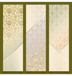 Vintage Banners Retro Pattern Design Set vector image vector image