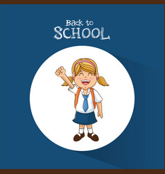 Back to school funny student tail hair uniform vector