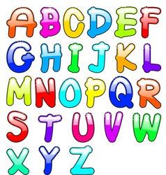 childish alphabet vector image vector image