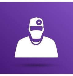 Doctor with stethoscope around his neck icon vector image