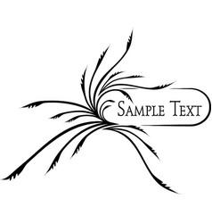elegant oval frame for your design ilustration vector image
