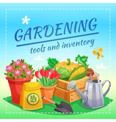 Gardening tools and inventory design concept vector