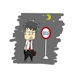 man after work vector image