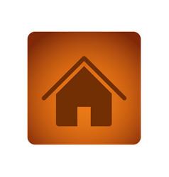 orange emblem house icon vector image