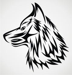 Wolf Head Tattoo Design vector image vector image