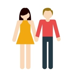 couple together romantic love vector image