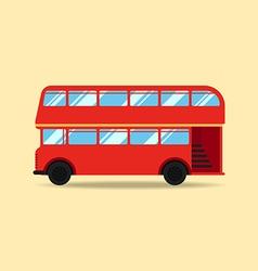 Double decker bus flat design vector