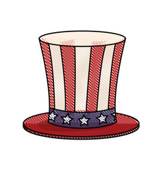 drawing top hat celebration party national vector image