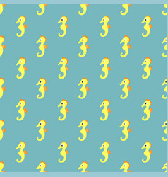 pattern with sea horse vector image vector image