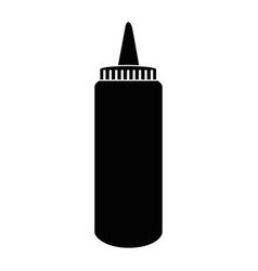 sauce plastic bottle vector image