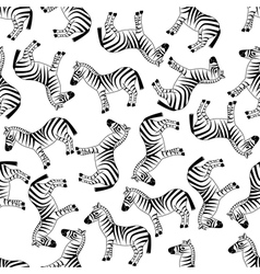 seamless zebra pattern vector image vector image