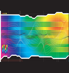 space outlook rainbow vector image vector image