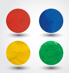 Watercolor Paint Design Elements vector image vector image