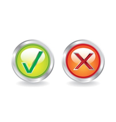 Yes no icons vector image vector image