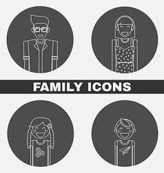 Family Icons Set vector image vector image